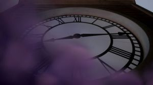 Magic covers the clock face in Storybrooke