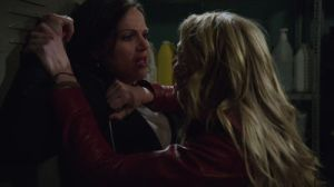 Emma and Regina in the closet